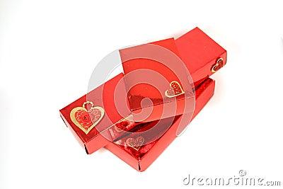 Three Red Gift Box