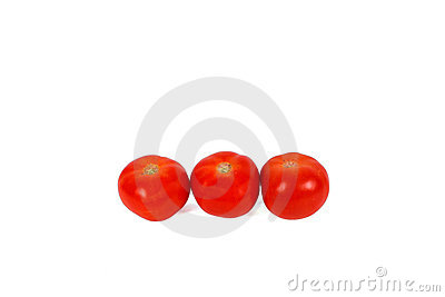 Three red tomatos