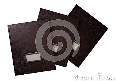 Three retro folders