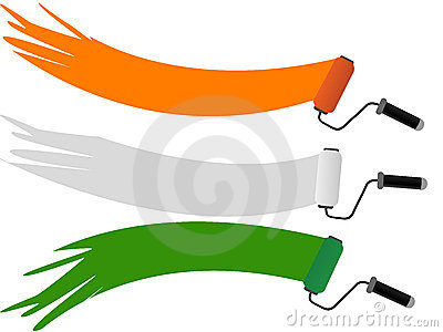 Three rolar having Indian National Flag color