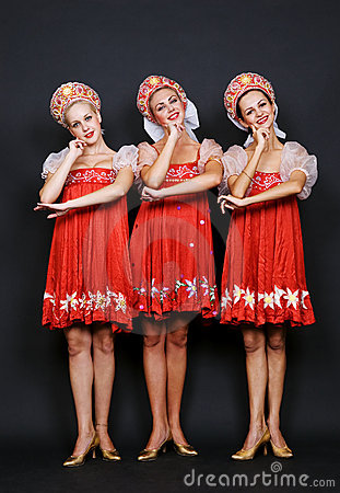 Three russian beauties