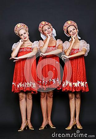 Three russian beauties