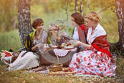 Three russian women