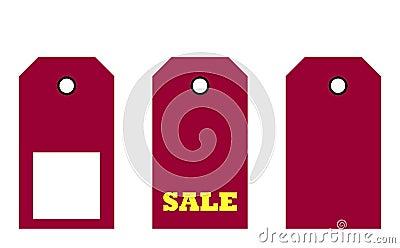 Three sale tags