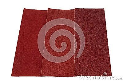 Three sandpaper