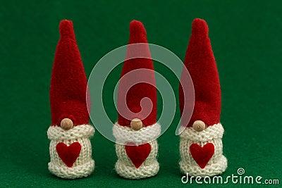 Three Santa s Christmas decoration