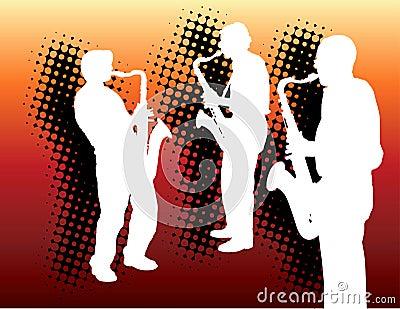 Three sax players