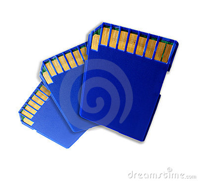 Three SD memory cards