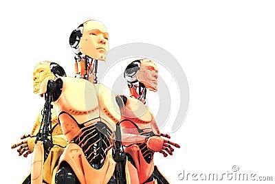 Three serious robots