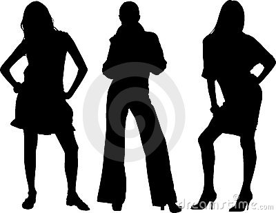 Three sexy girls vectors