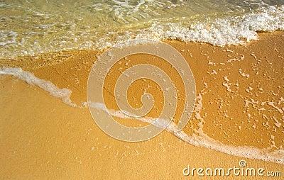 Three shades of the sea and beach