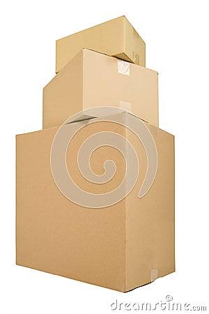 Free Three Shipping Boxes Royalty Free Stock Photos - 8981368