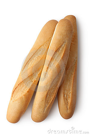 Three short baguettes