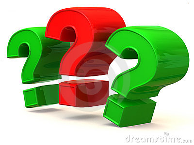 Three Signs On A Question Royalty Free Stock Images - Image: 4071299
