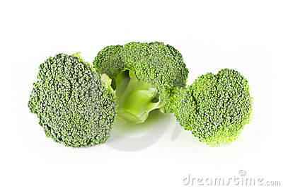 Three small broccoli