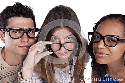Three smart student friends