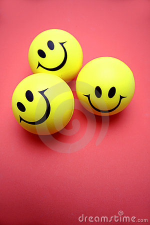 Three smiley faces