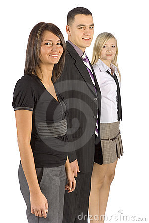 Three Smiling Business People