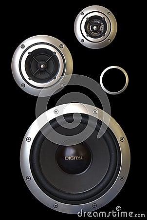 Three speakers