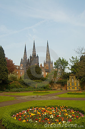 three spires and gardens