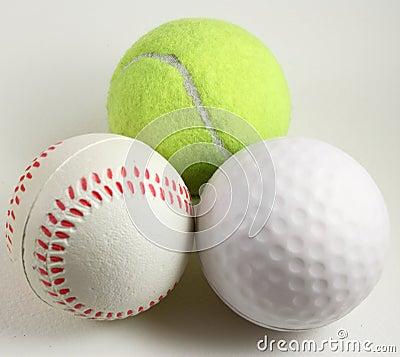 Three sports balls