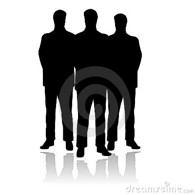 Three standing men