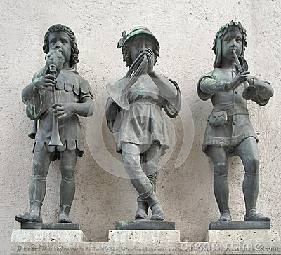 Three statues in Munich