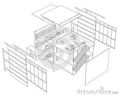Three story building plan