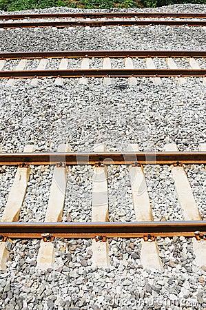 Three straight railway