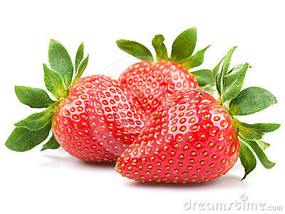 Three strawberry