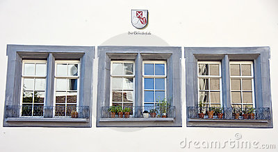 Three Swiss windows