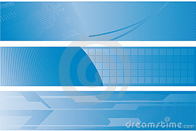 Three technology banners