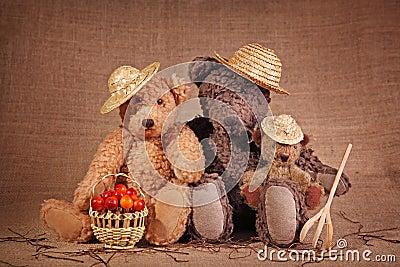 Three teddy bear