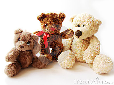 Three teddy-bears