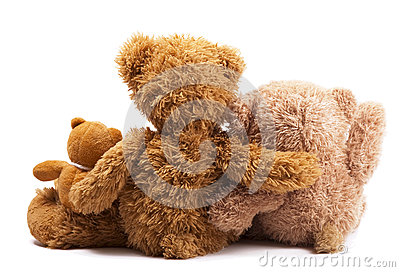 Three teddy bears
