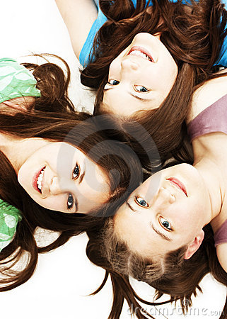 Free Three Teen Girls. Education, Holidays. Royalty Free Stock Photo - 19540295