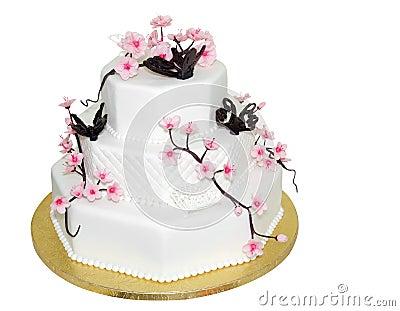 Three Tiered Iced Cake