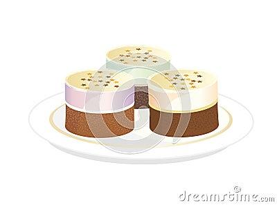 Three Tiramisu Cake