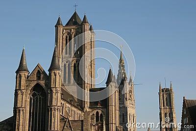 Three Towers in Gent, Belgium