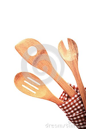 Three traditional rustic kitchen utensils
