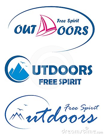 Three travel logos - free spirit outdoors