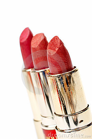 Three tubes of red lipstick