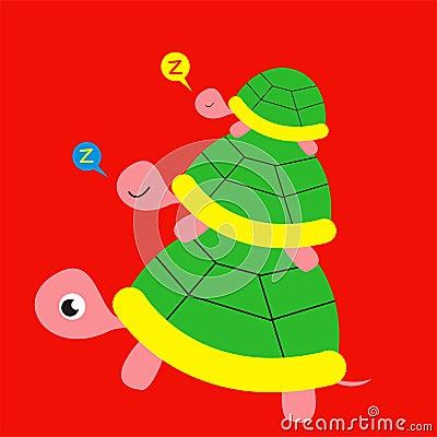 Three turtle