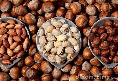 Three types of nuts