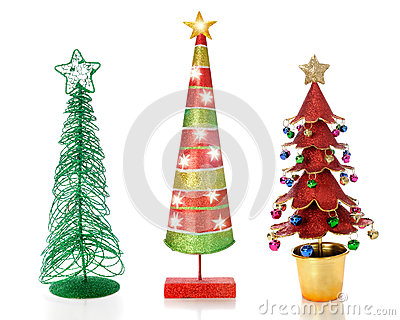 Three Unique Christmas Trees