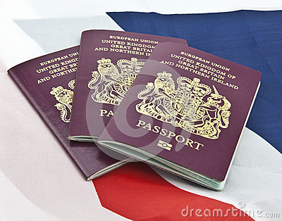 Three United Kingdom passports