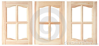 Three unpainted furniture doors