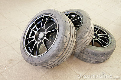 Three used wheels