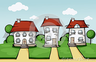 Three vector house