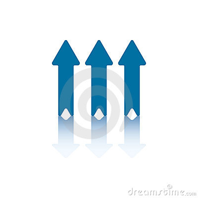 Three Vertical Arrows Up